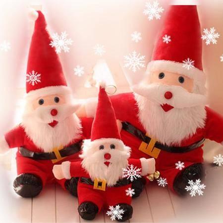 ILOOP圣诞老人公仔 圣诞老人毛绒玩具 圣诞节装饰品 儿童圣诞节小礼物40cm
