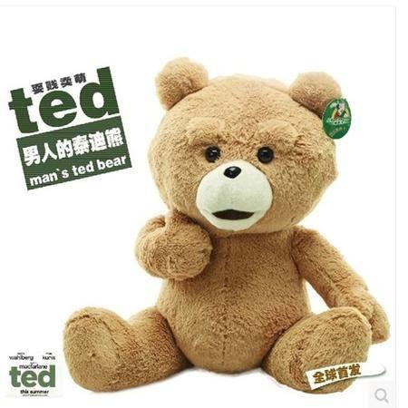 ILOOP美国正版电影泰迪熊 正品ted熊 贱熊毛绒玩具生日礼物公仔抱抱熊40cm