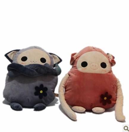 iloop创意长臂娃娃星际宝贝抱枕家居毛绒玩具靠垫布娃娃暖手捂