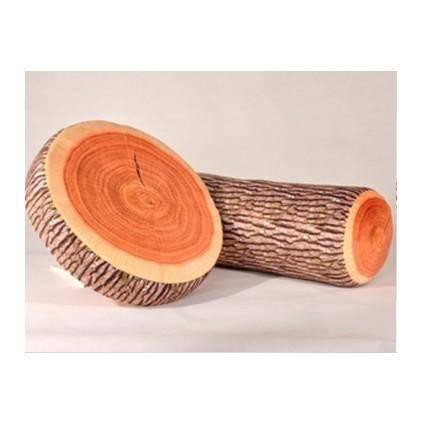 ILOOP仿真树桩年轮抱枕毛绒玩具 创意家居礼品颈枕 坐垫 抱枕三件套