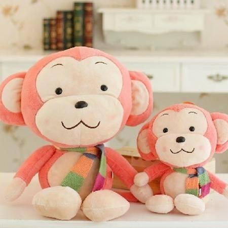 ILOOP猴子毛绒玩具 围巾大嘴猴公仔布娃娃玩偶女生生日礼物70cm