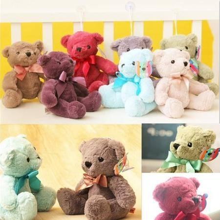 iloop新款彩色小熊七色熊泰迪熊创意毛绒玩具公仔节日礼物30cm