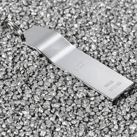 SSK飚王 K5 16G-U盘 SFD199 USB2.0 轻薄金属u盘 超薄合金防水钥匙优盘