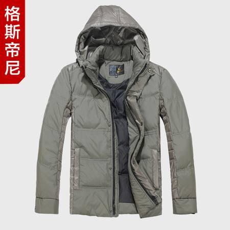 格斯帝尼冬装新款男士英伦时尚保暖羽绒服 连帽羽绒 奢侈品 YL22505