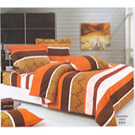 家居舒 床上用品 磨毛印花 全棉四件床套