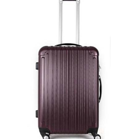 至新(Newest)13PET124 酒红色PET材质时尚环保万向轮24英寸拉杆箱TSA海关密码锁