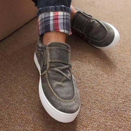 MR.benyou新款秋冬韩版时尚水洗牛仔布加厚潮流日常休闲帆布鞋308-FB10-P50