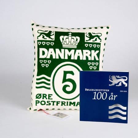 特别装 波浪线百年纪念和1个设计师手工制作珍藏家装靠枕  绿色  配 5丹麦便士邮票