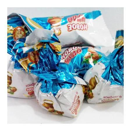 俄罗斯糖果 可可椰奶果仁夹心巧克力威化糖果250g