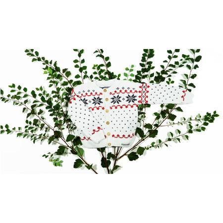 儿童棉球衣总有机棉  北欧设计 丹麦直邮  自然的色彩 白色和粉红色