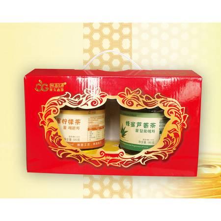 【江西农商】東大金果 蜂蜜.果蔬茶礼盒 2瓶装