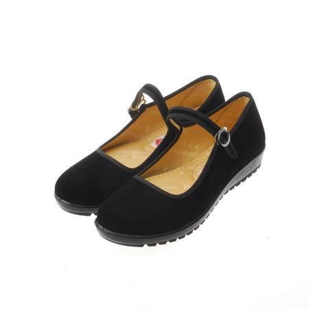 [直供]B4-3519-FU佰顺福平绒舞鞋B01