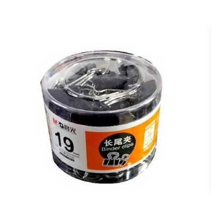 [浙江百货] 晨光19mm黑色长尾夹PVC筒装ABS92610
