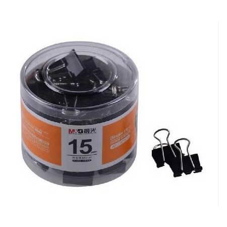 [浙江百货] 晨光15mm黑色长尾夹PVC简装ABS92609