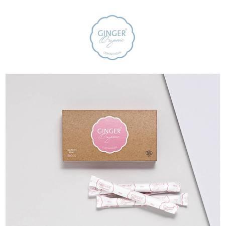 GingerOrganic Copenhagen 有机导管式卫生棉条 3个月用量 小型 36支装