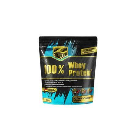 德国品牌康再普Z-KONZEPT百分百乳清蛋白粉500g健身运动增肌乳清蛋白粉(巧克力味)