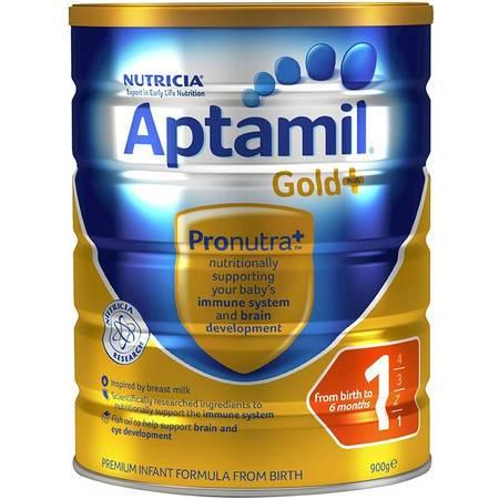 Aptamil Gold+1 爱他美金装加强版 婴儿奶粉 1段(0-6个月) 整箱六罐