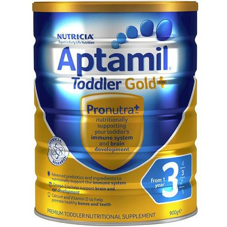 Aptamil Gold+3 爱他美金装加强版  婴儿奶粉 3 段(12个月以上) 整箱六罐