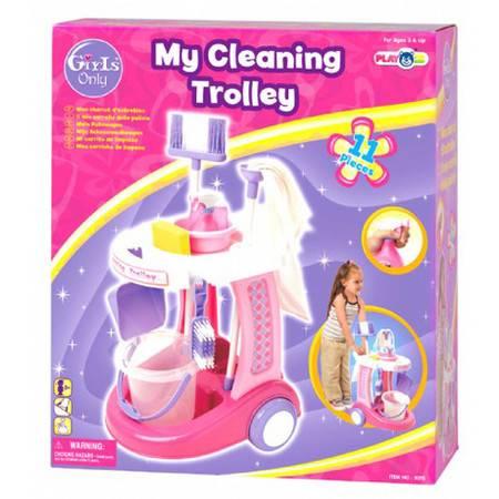 贝乐高清洁推车玩具扫把打扫卫生仿真宝宝过家家玩具3075