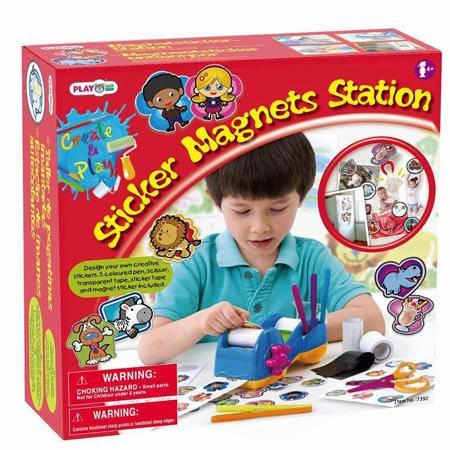 贝乐高哈哈手工派DIY冰箱贴创作机贴纸儿童手工玩具自制贴画7392