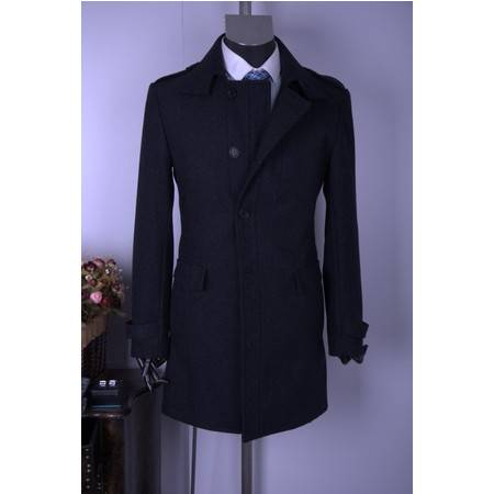 2011男士商务中长大衣外套秋冬加厚冬季必备02031014