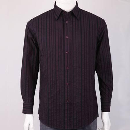 男士男装全棉免烫休闲商务长袖衬衫 萨托尼 10116027