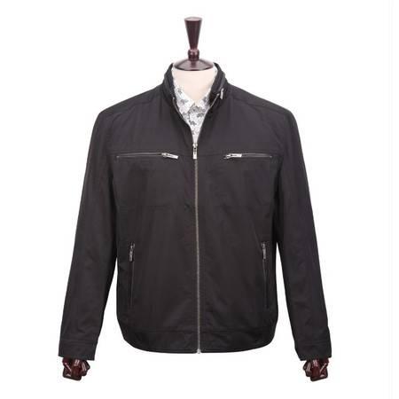 萨托尼专柜正品 男士商务休闲夹克衫 黑色 05181013