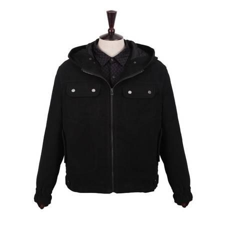 萨托尼专柜正品 男装特价 商务休闲棉夹克衫 新款上架 黑色 05166013