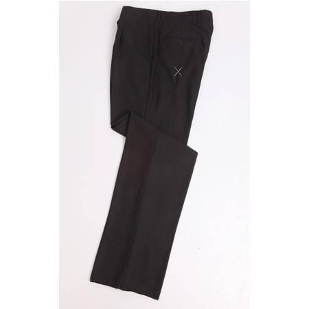 萨托尼专柜正品  男装 商务正装 羊毛西裤 黑色 03088113