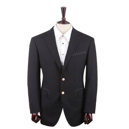 萨托尼专柜正品 特价休闲男装 男士常规休闲西装 黑色 07104053013