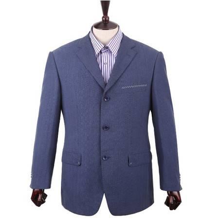 萨托尼专柜正品 特价休闲男装 男士常规休闲西装 兰色05304012016