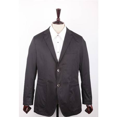 萨托尼专柜正品 特价休闲男装 男士常规休闲西装 黑色 04083013