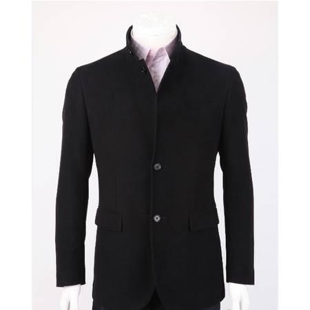 萨托尼专柜正品 特价休闲男装 男士常规休闲西装 黑色 04119013