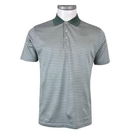 萨托尼正品男士时尚商务休闲夏季绿色短袖T恤12247108