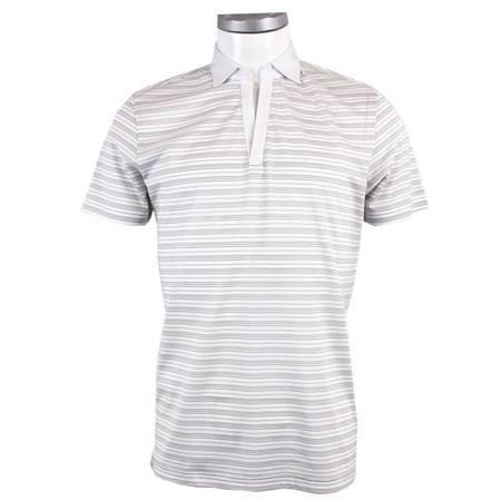 萨托尼 sartore 男士 商务 特价 休闲 短袖T恤 白色 12222120