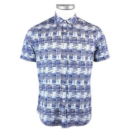萨托尼sartore男士商务休闲 短袖衬衫蓝色11151117