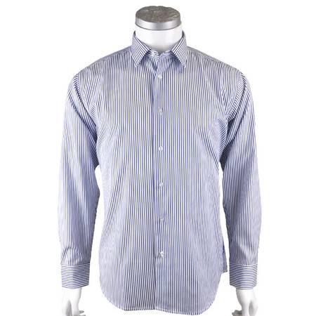 男士男装商务条纹长袖衬衫 萨托尼新款2014 10294016