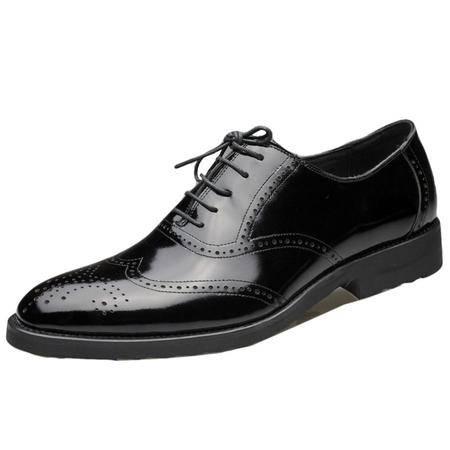 索里奥男式头层珠光牛皮正装鞋5782
