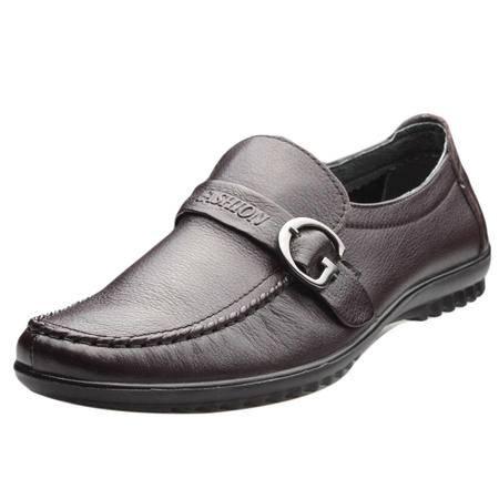索里奥男式头层软牛皮休闲鞋6602B-61