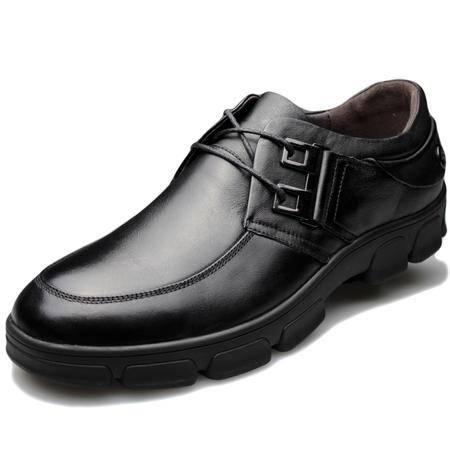 索里奥男式头层牛皮休闲皮鞋15960