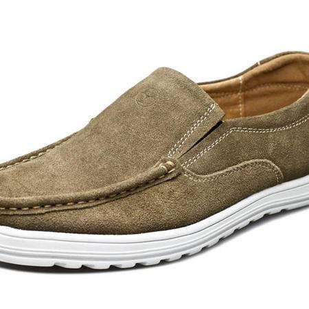 索里奥男式反绒牛皮时尚休闲皮鞋801112