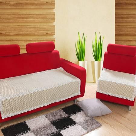 优然之家 URAN 米格世界  棉麻沙发垫 90*90cm