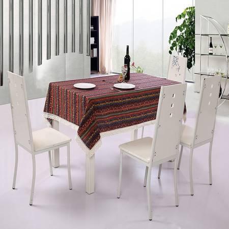优然之家URAN 波西米亚 红 时尚棉麻桌布 140*180cm