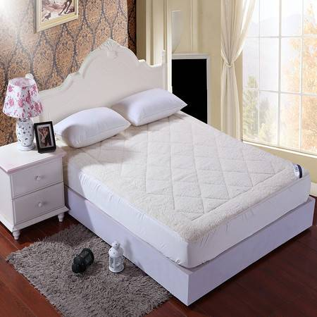 优然之家家纺 URAN 1.5m羊羔绒加厚保暖床垫