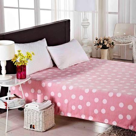 Lionsuz蓝丝 珊瑚绒糖果色休闲盖毯(粉色)200*230cm