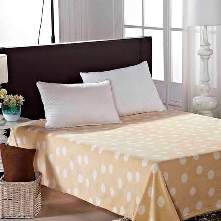 Lionsuz蓝丝 珊瑚绒糖果色休闲盖毯(黄色)200*230cm