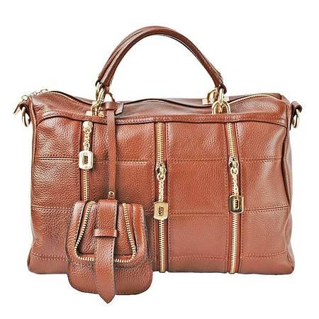 伊法兰妮美丽俏佳人女式手拎包(棕色)B004286