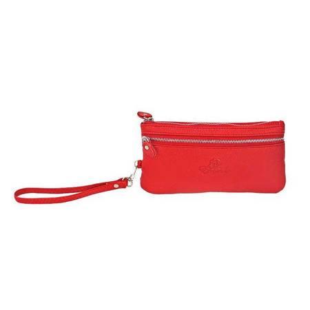 伊法兰妮多功能女式长款钱包(红)B004335