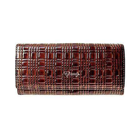 伊法兰妮格纹长款女式钱包 B004266