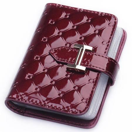金狐狸正品卡包 女式菱格牛皮卡包 女士名片包 卡套票夹